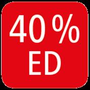 40% DUTY CYCLE