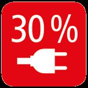 30% MAINS VOLTAGE